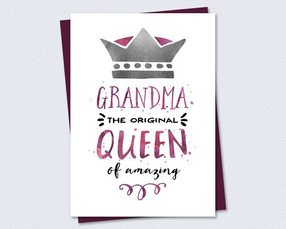 Birthday Cards For Grandma Printable ~ Birthday card grandma the original queen of amazing printable grandmother granny