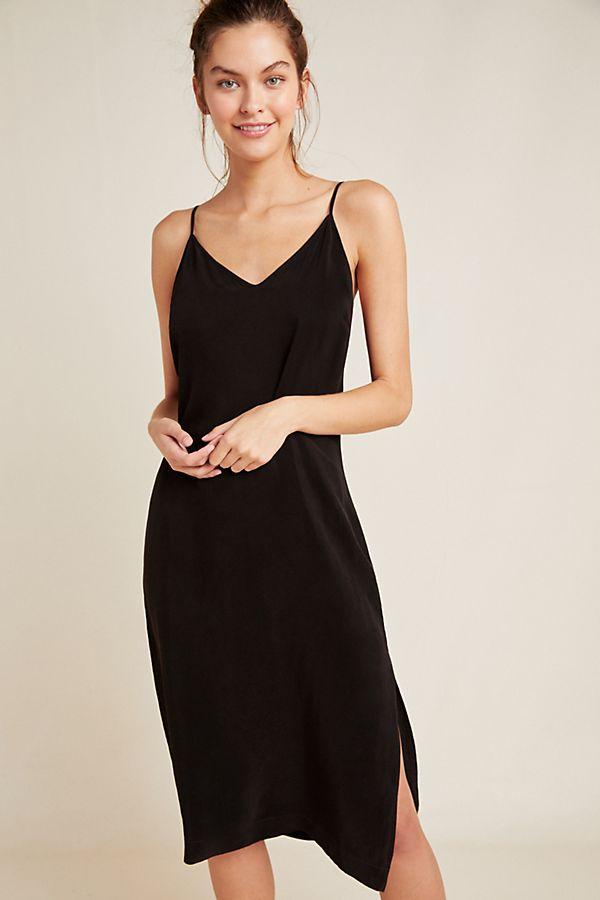 Stateside Cupro Slip Dress Casual Dress Outfits Black Dress Accessories Slip Dress