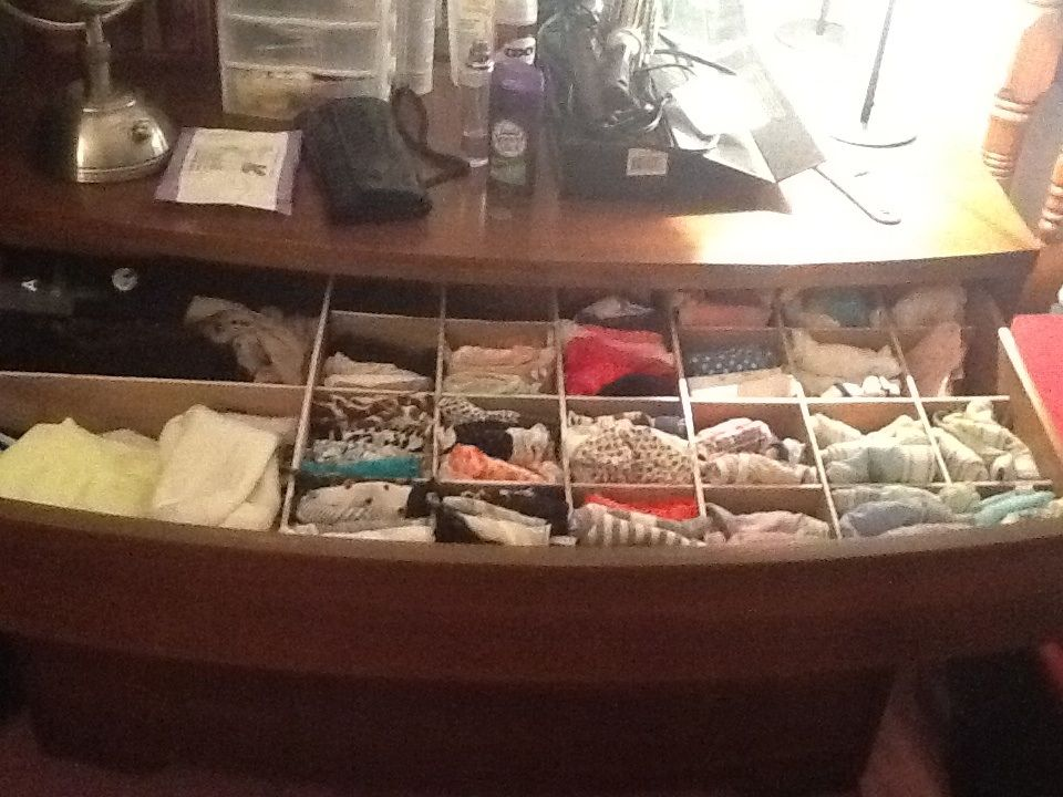 Panty drawer organizer with plywood!