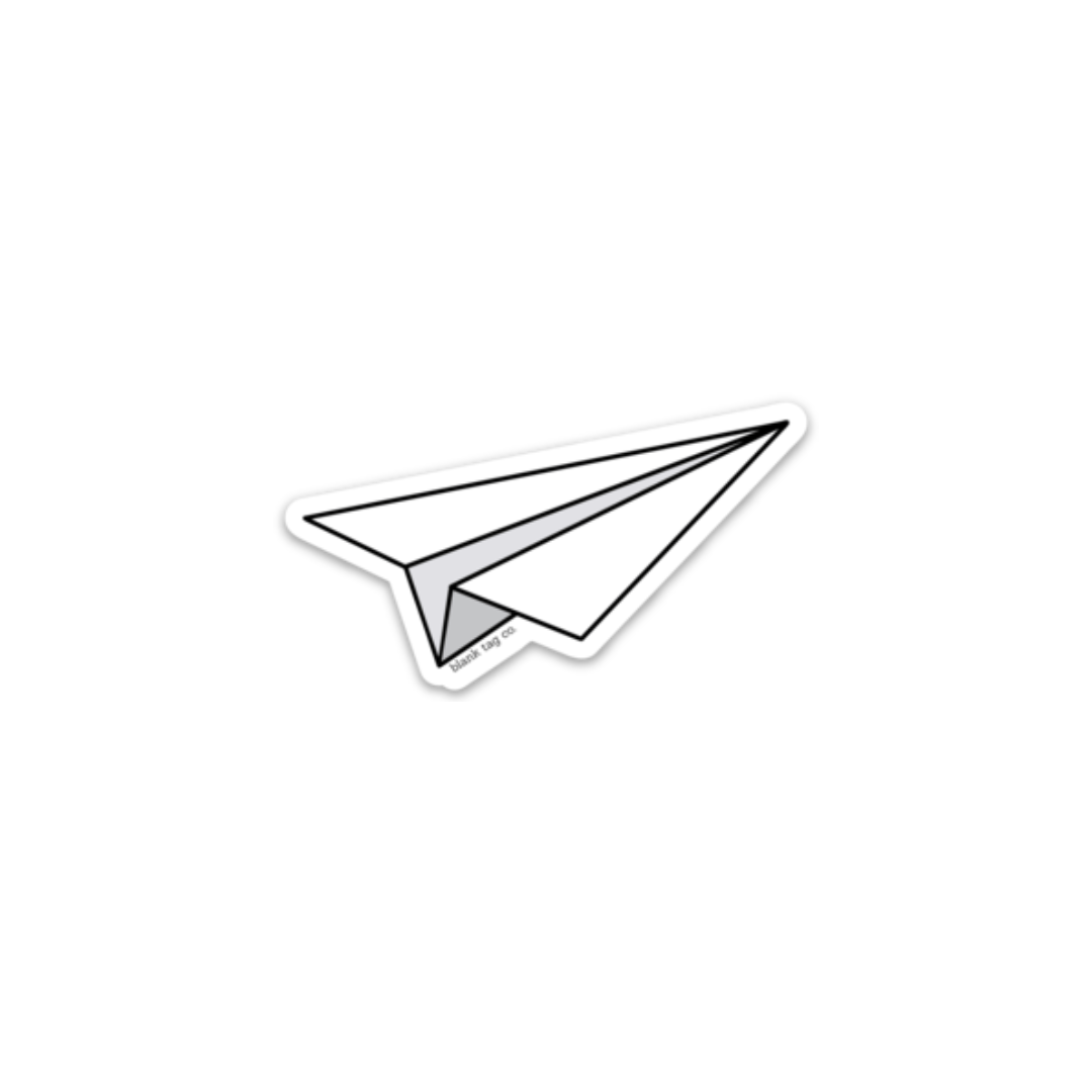 The Paper Plane Sticker Aesthetic Stickers Black Stickers Bubble Stickers