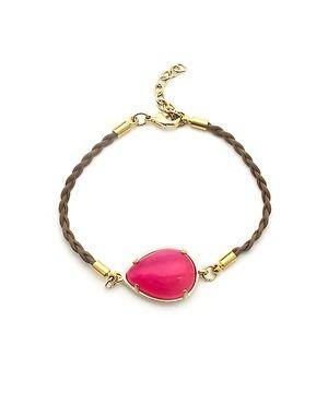 Teardrop Stone Braided Bracelet