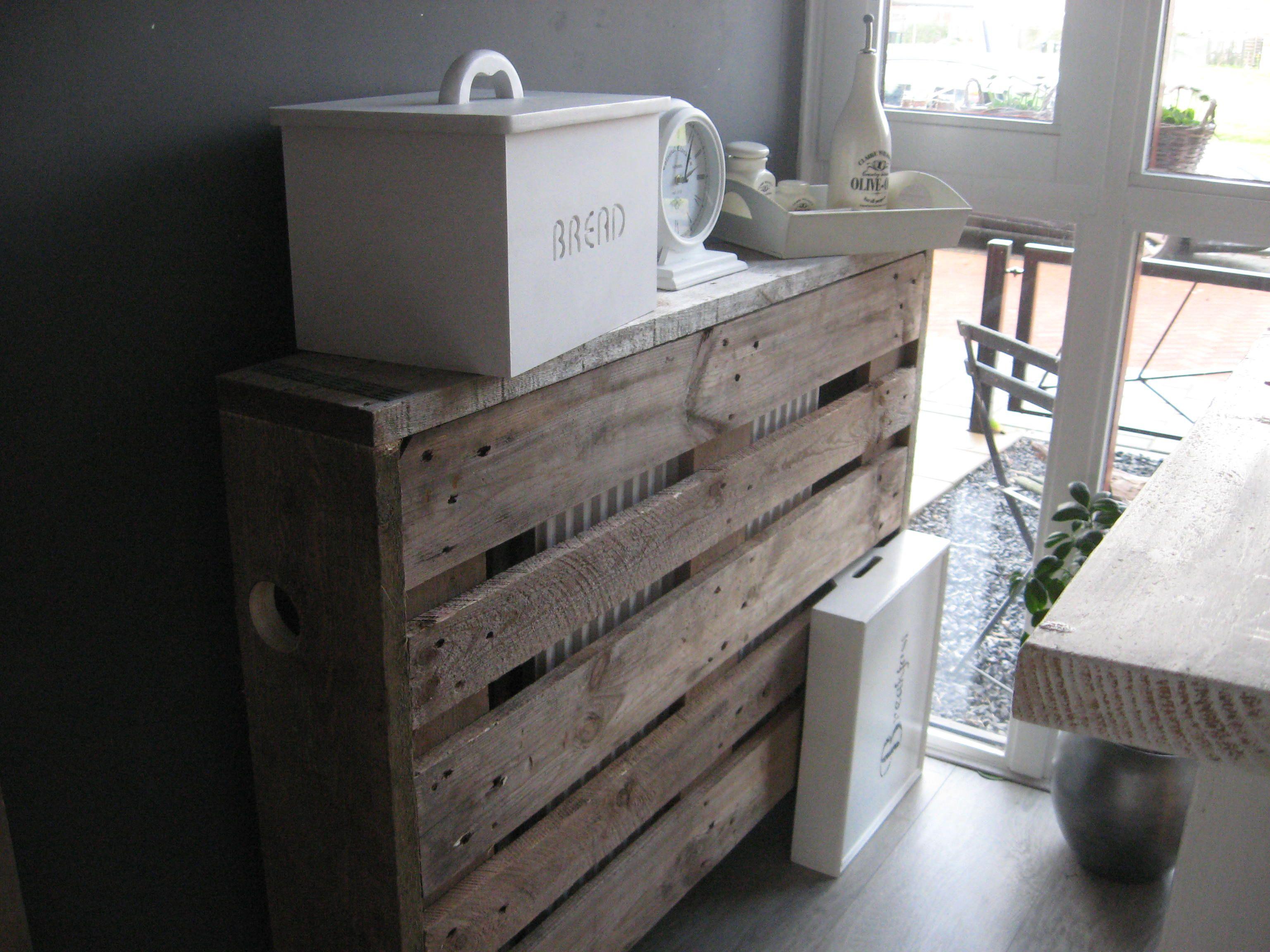 radiatorombouw van pallet en steigerplank 39 wegwerken. Black Bedroom Furniture Sets. Home Design Ideas