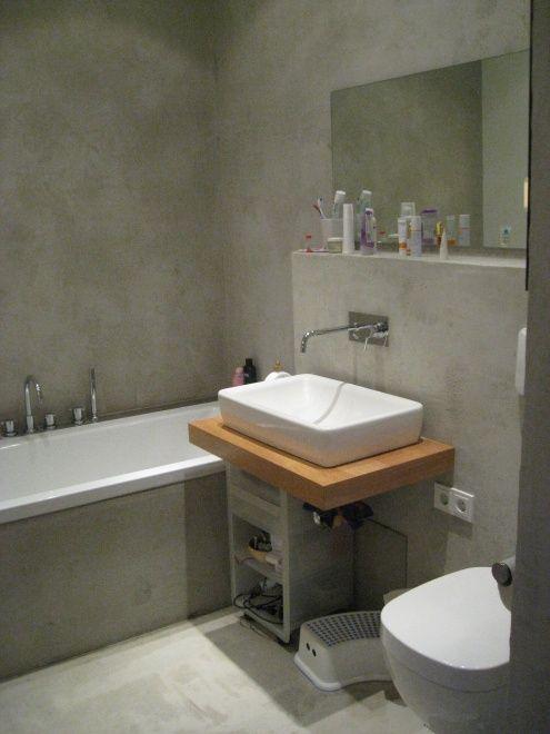 Bad top ciment mikrozement b der badezimmer bad und baden for Badezimmer ideen 5qm