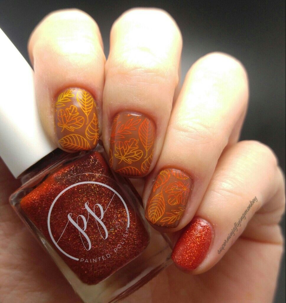 Fall leaves nails | My Sunday Psychosis | Pinterest
