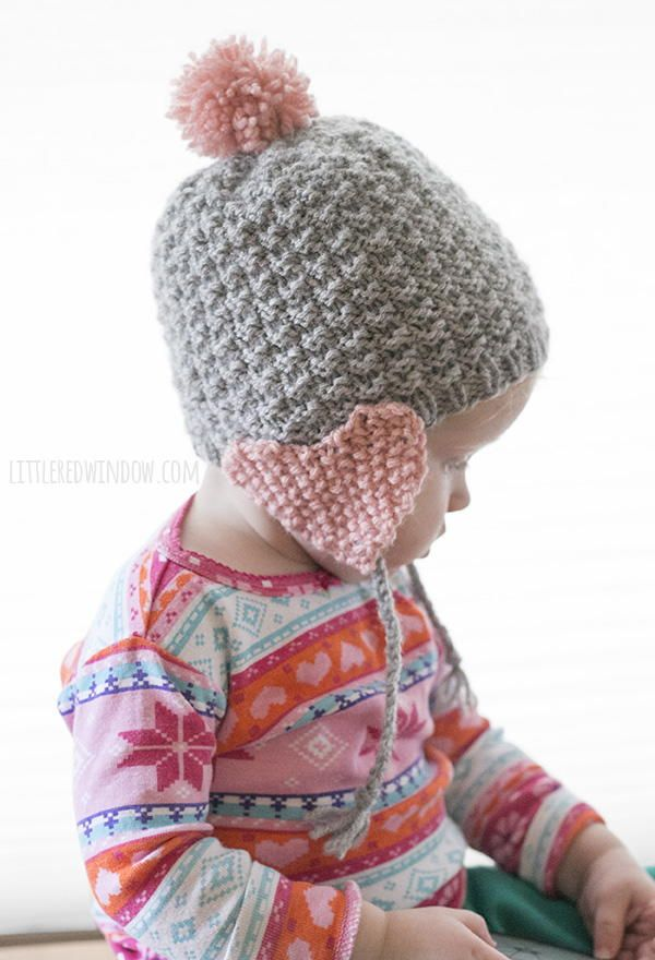 Valentine Heart Earflap Hat | Valentine heart, Knitted baby and Baby ...