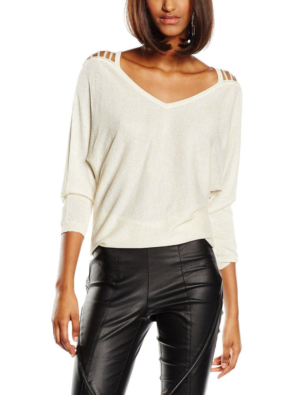 Morgan Milex - Sweat-shirt - Uni - Manches 3/4 - Femme - Beige (Beige Doré)  - FR: 44 (Taille fabricant: XL): Amazon.fr: Vêtements et accessoires