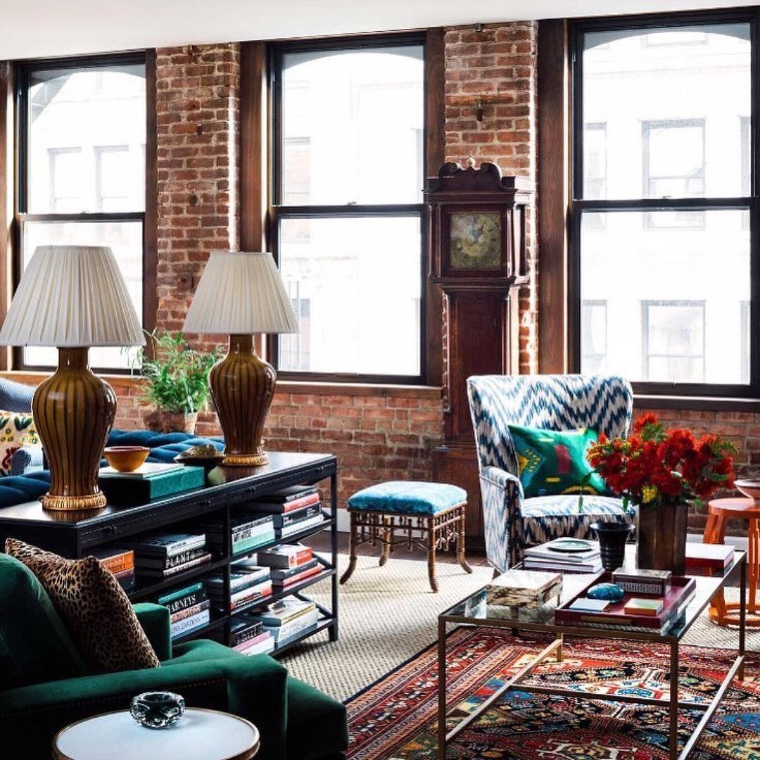 pinnatalie lyon on a brick in the interior  living
