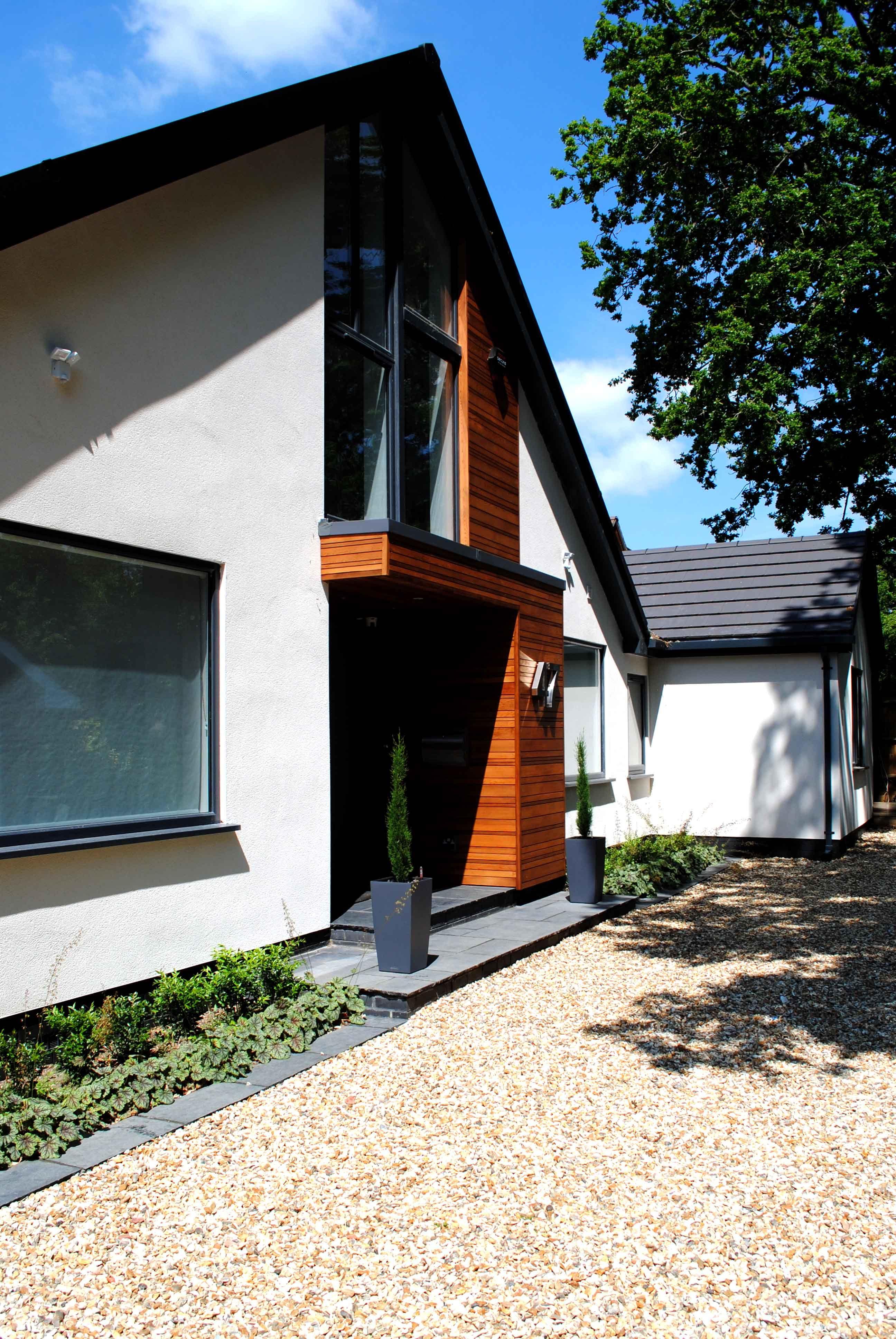 contemporary chalet bungalow