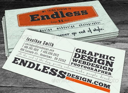 Vintage and Retro Business Card Design Business Cards