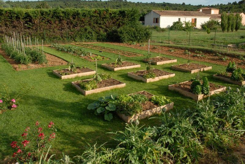 Notre maison en Provence Potager Bio en carré Potager