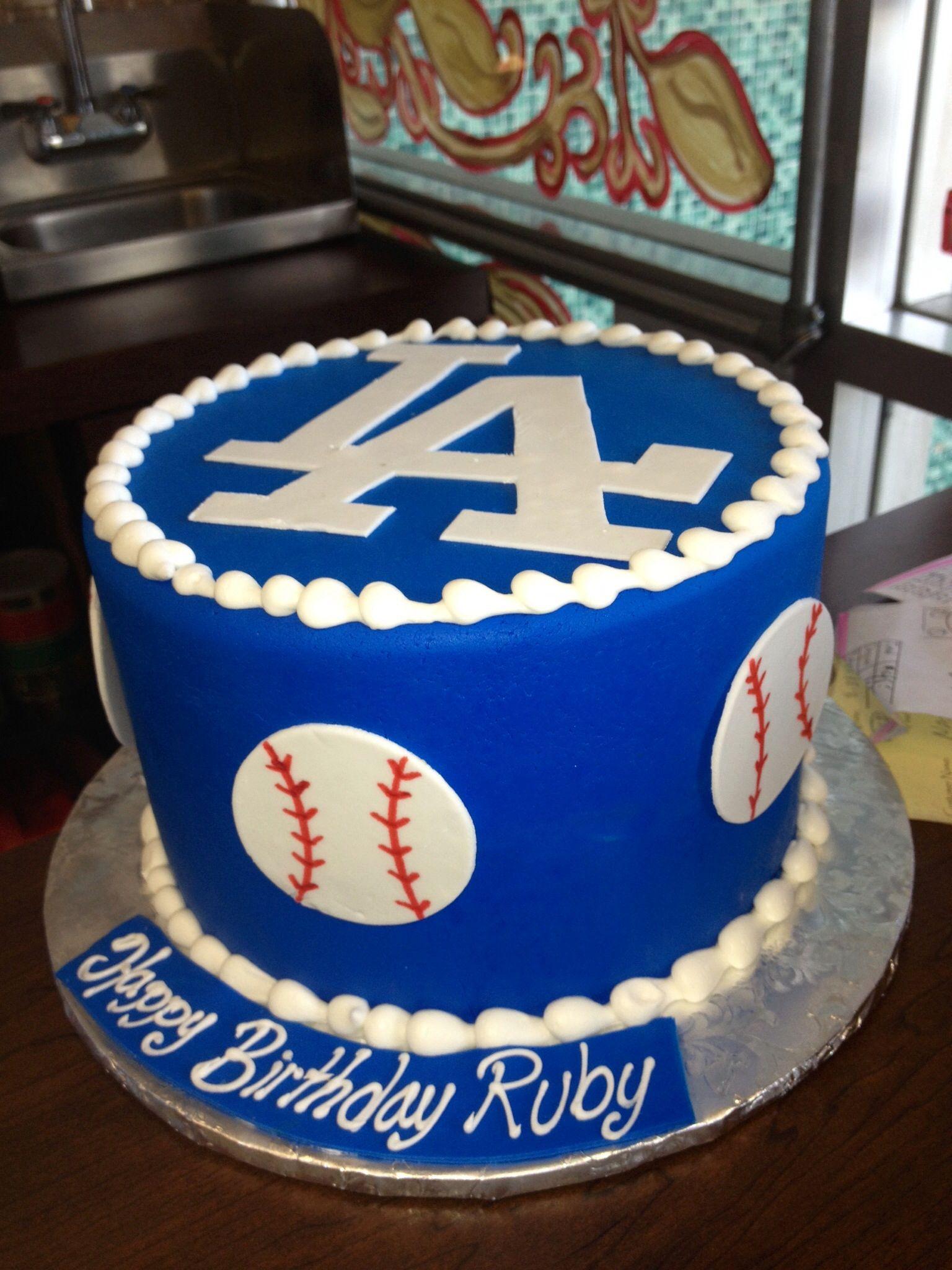 Marvelous Dodger Cake Dodgers Birthday Party Cool Birthday Cakes Funny Birthday Cards Online Benoljebrpdamsfinfo