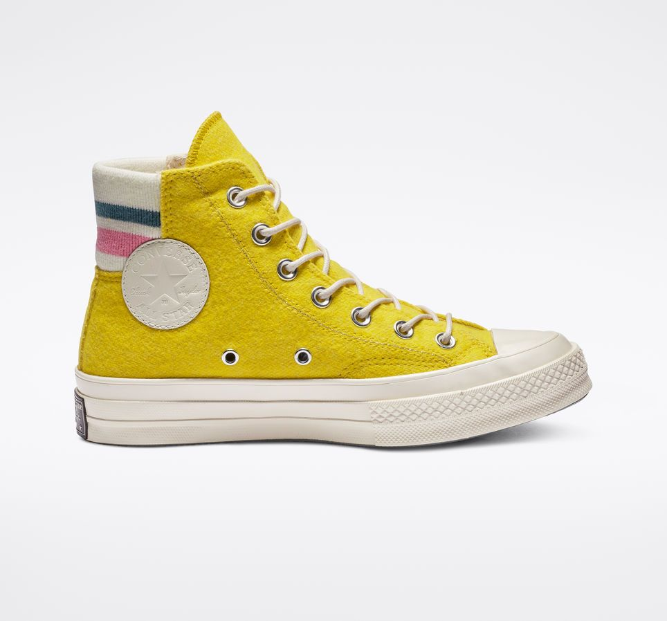 Chuck 70 Retro Stripe High Top Bold CitronPink | Yellow