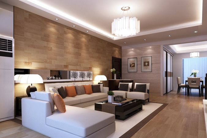 Modern living room d model verlichting