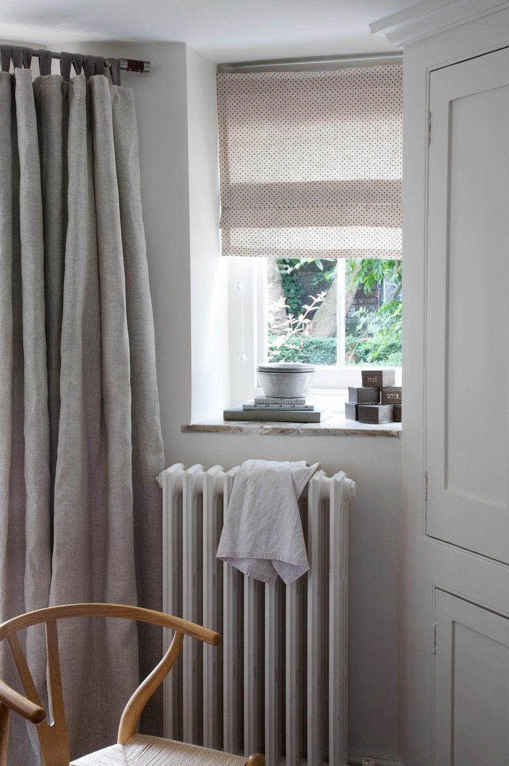 Gray curtains bedroom cabbages u roses plain beige fabric curtains  ambience  pinterest