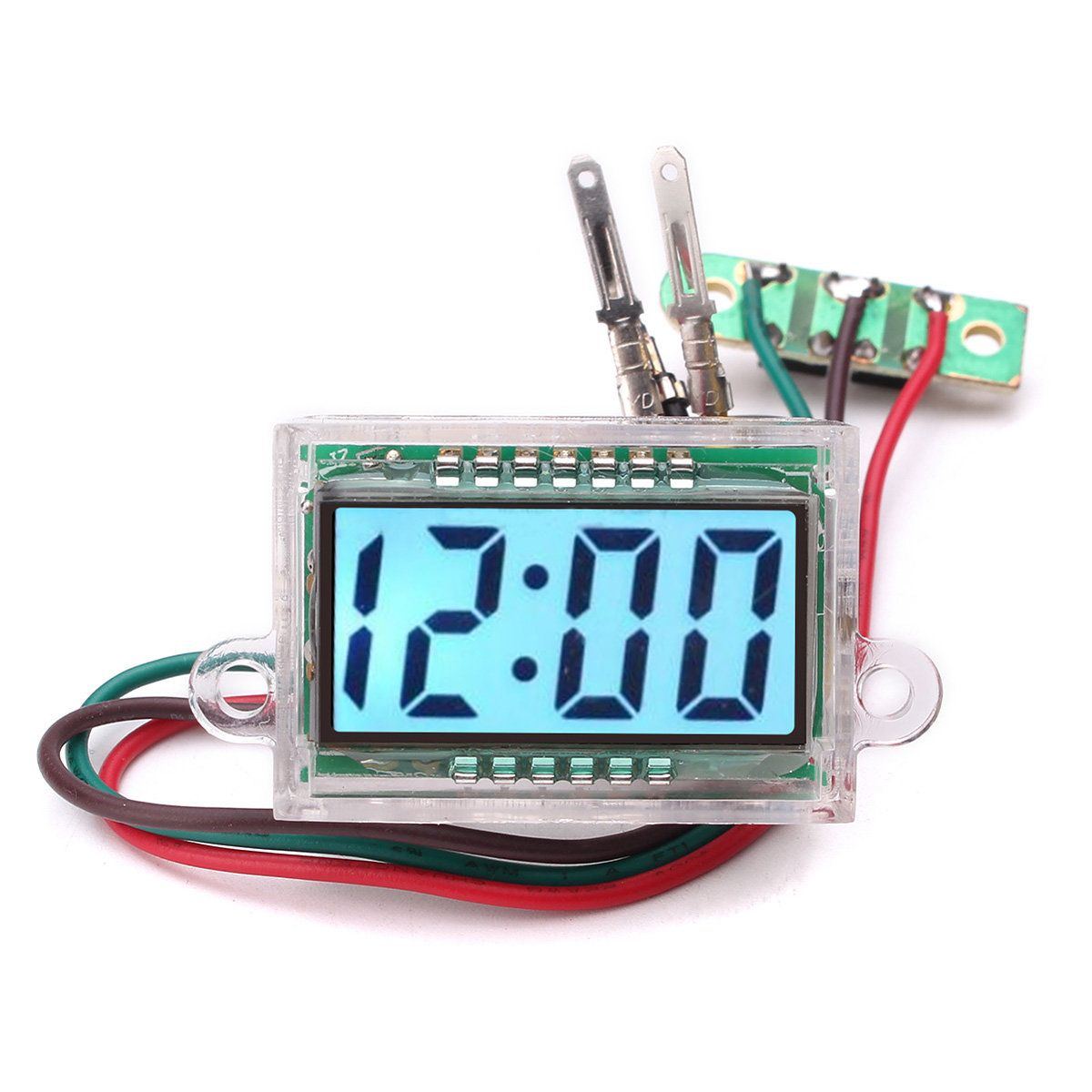 Us 7 97 38x26x17mm Dc 12v Waterproof Digital Lcd Dashboard Automatic Clock For Diy 38x26x17mm Waterproof Digital Dashboard Automatic Giftme Clock
