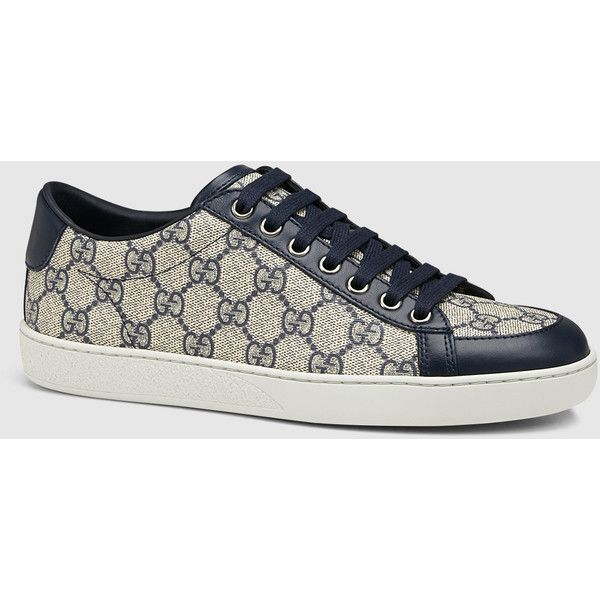 8d84905eda1 Gucci Brooklyn Gg Supreme Canvas Sneaker ( 415) ❤ liked on Polyvore  featuring shoes