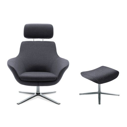 Metallic Bob Lounge With Headrest Office Furniture Online Contemporary Seating Furniture