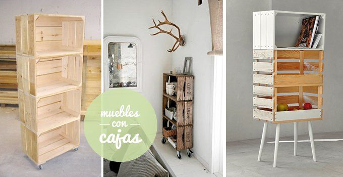 24 ideas para decorar tu hogar sin gastar   libreros, huacal y ... - Imagenes De Armarios Hecho Con Cajas Recicladas