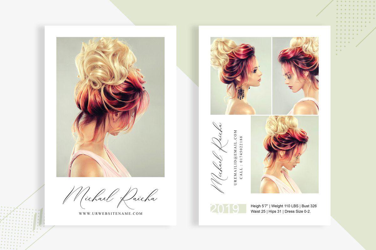 3 Fashion Comp Card Template Model Comp Card Photoshop Photoshop Cs6