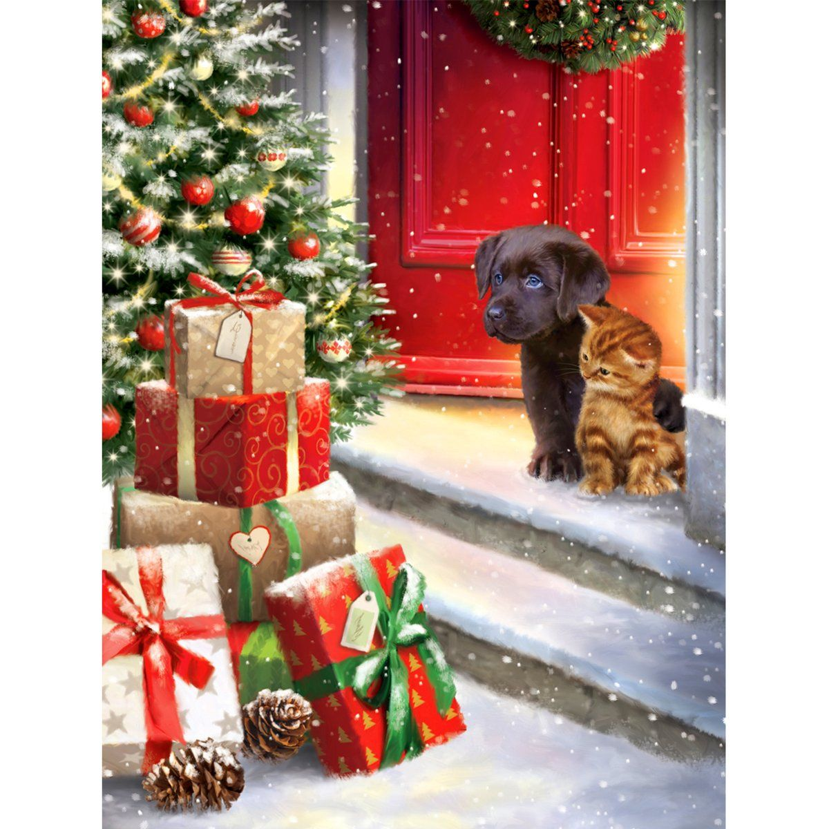 5d Diamond Painting Christmas Presents And Dogs And Cats Paint With Diamonds Art Crystal Craft Decor In 2020 Diamond Painting Crystal Crafts Cat Painting