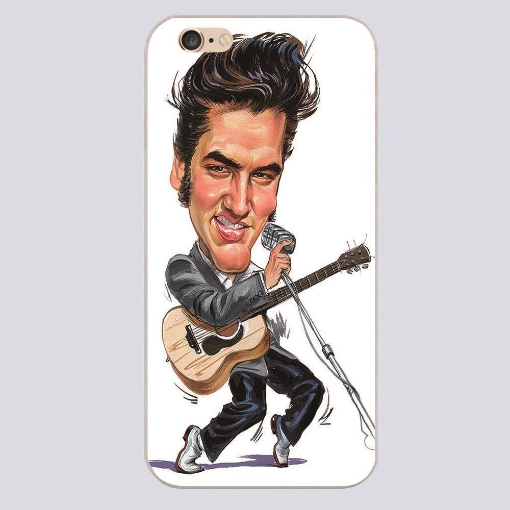 Elvis Caricature Hard Case for iPhone