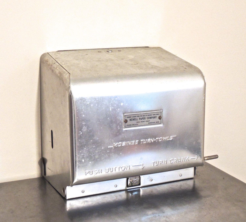 Vintage Paper Towel Dispenser 1950s 60s Newell Paper Co Atomic