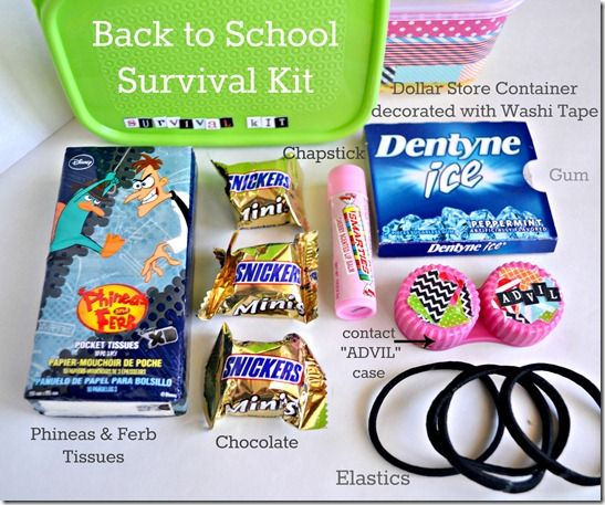 DIY locker accessories survival kit contents | Arts ...