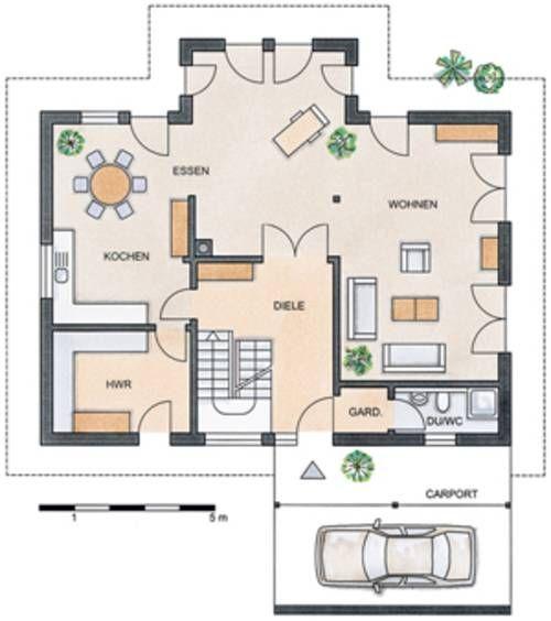 Grundriss Erdgeschoss STOMMEL HAUS \u2013 WILDROSE Wohnzimmer vorne - offene kuche wohnzimmer grundriss
