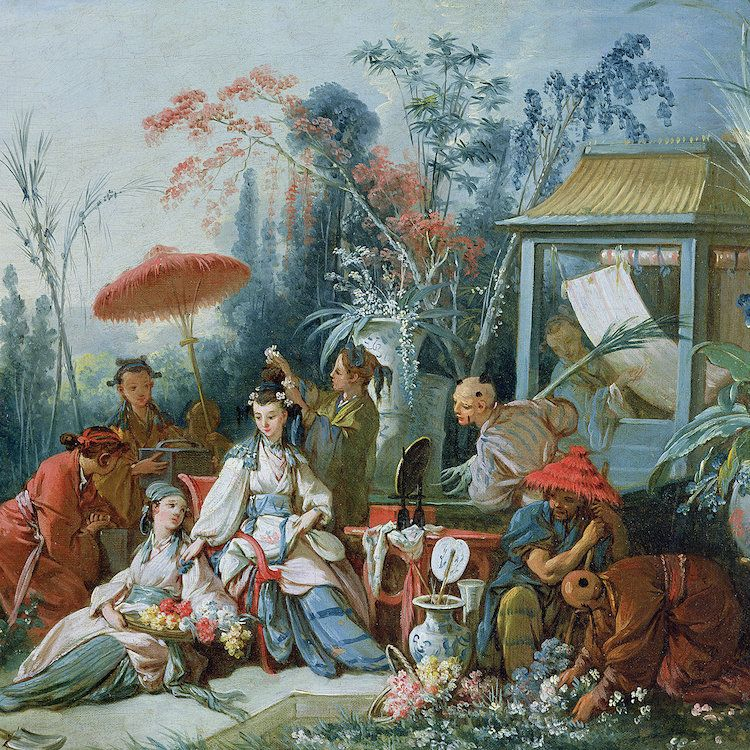 The Chinese Garden, c.1742 Canvas Art Print by Francois