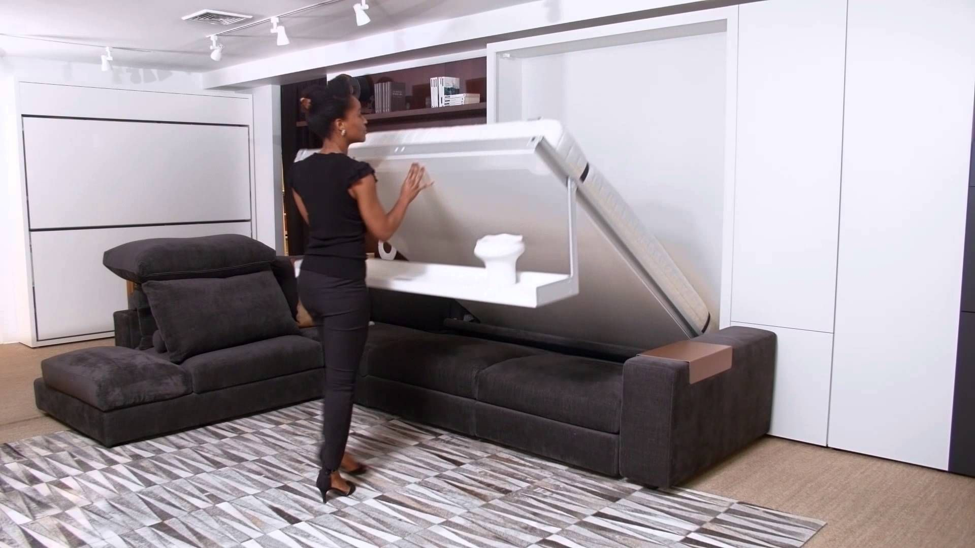 Wall Bed With Sofa Canada Sectional Sofas Clearance System Beds Murphy Resource Furniture