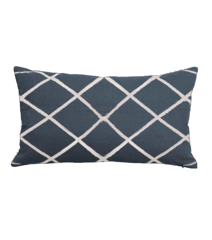 "Buttercream™ 14""x24"" Lattice Embroidered Pillow-Blue"
