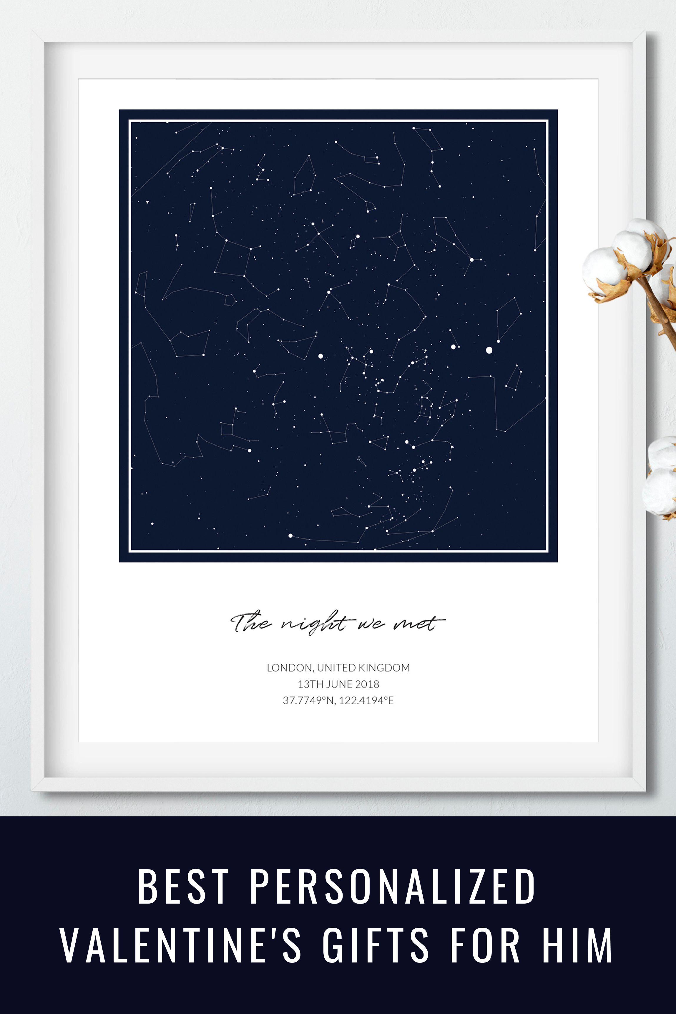 Custom Personalized Night Sky Star Map, 20x16'' Printable