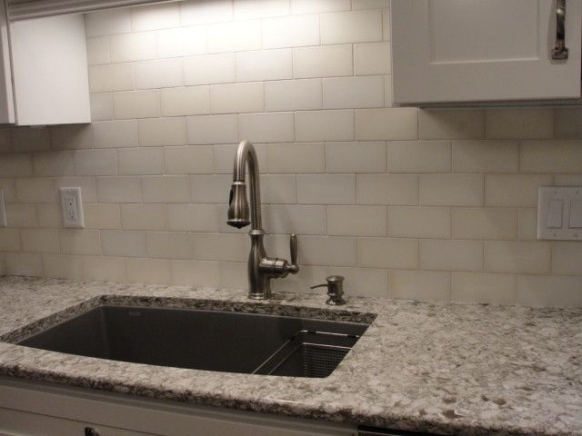 Cambri New Quay With Subway Tile Back Splash For The