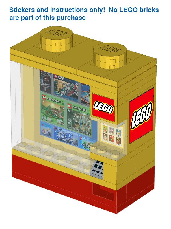 Lego Vending Machine Instructions And Stickers Lego Pinterest