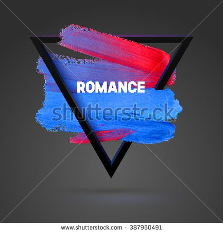 Romance Triangle motivation square acrylic stroke poster
