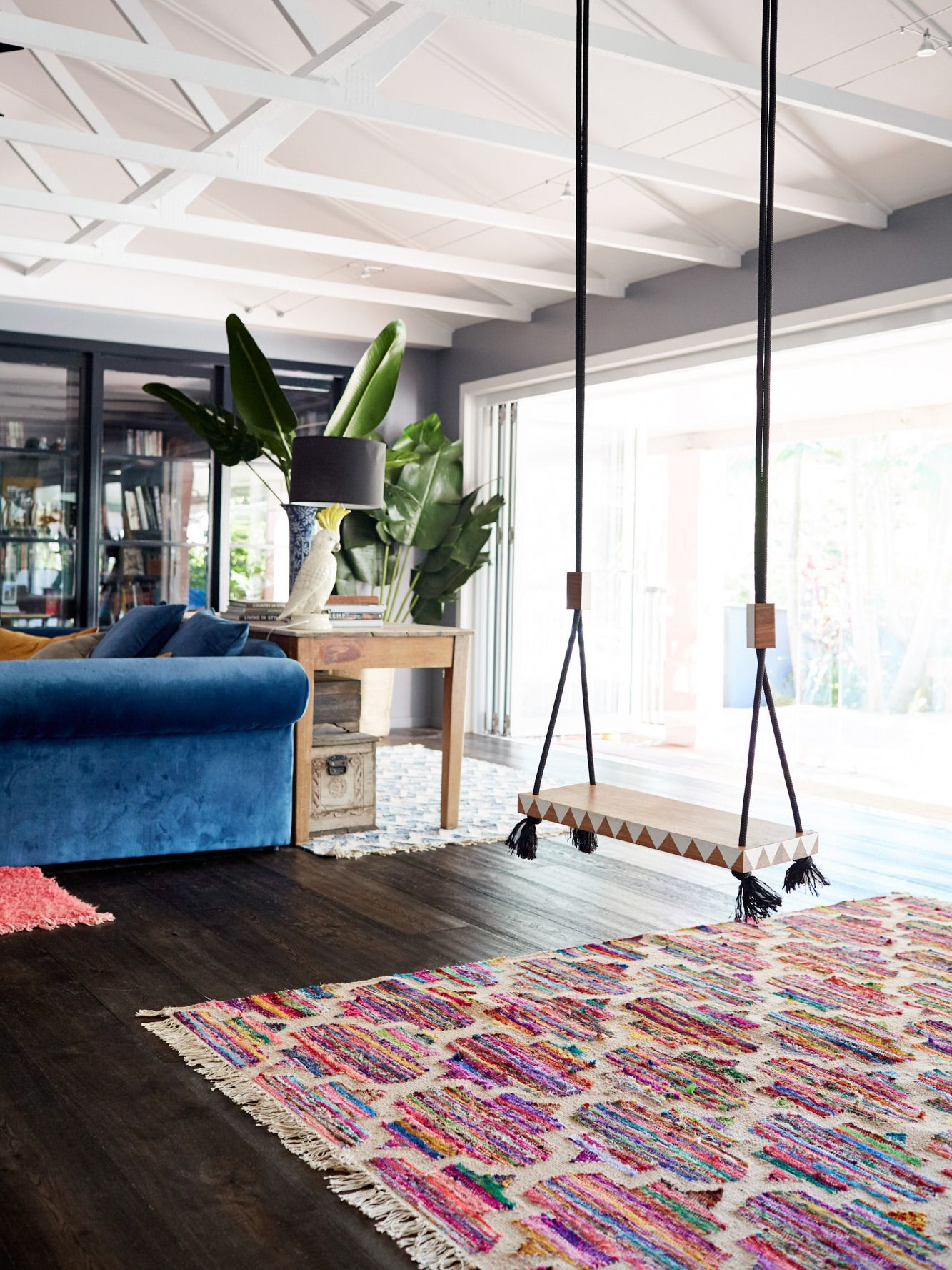 6 Ways to Decorate the Ultimate Family Room   Indoor swing ...