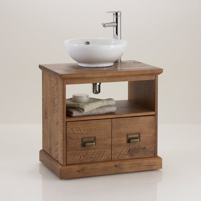 LINDLEY Solid Pine Under Sink Bathroom Unit La Redoute Interieurs  Description Of Lindley Under Sink Unit: Fits Easily Under A Sink.