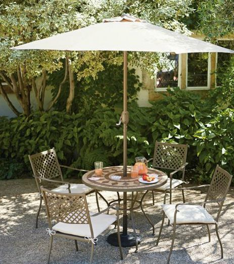 tuscany metal 4 seater garden furniture set home delivery