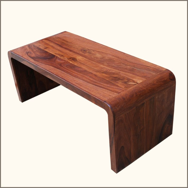 Our Sierra Contemporary Curved Corners Hardwood Coffee Table adds a