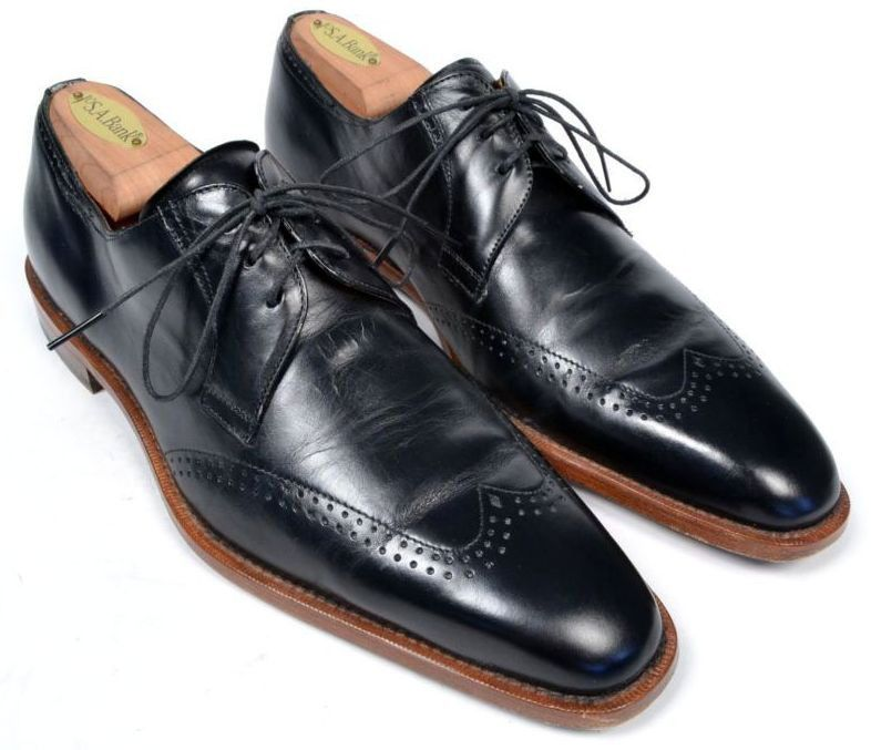 MEZLAN Black Wingtip Blucher Oxford Casal Dress Shoes SPAIN Mens Size US  7.5 M #Mezlan