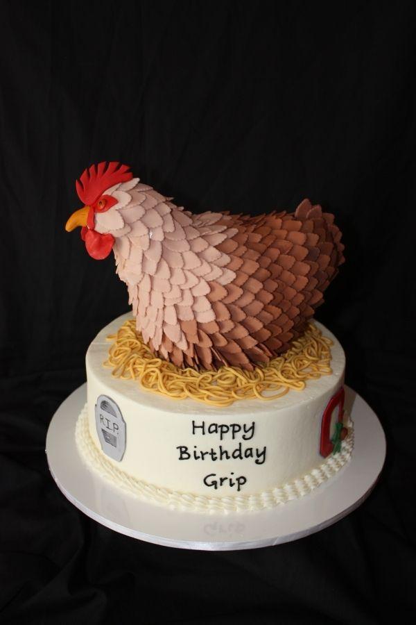 Wondrous 50Th Birthday Chicken Cake Chicken Cake Chicken Cupcakes Birthday Cards Printable Inklcafe Filternl