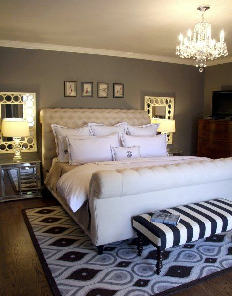 z gallerie bed...mirrors beside bed too | Home bedroom ... on Mirrors Next To Bed  id=92344