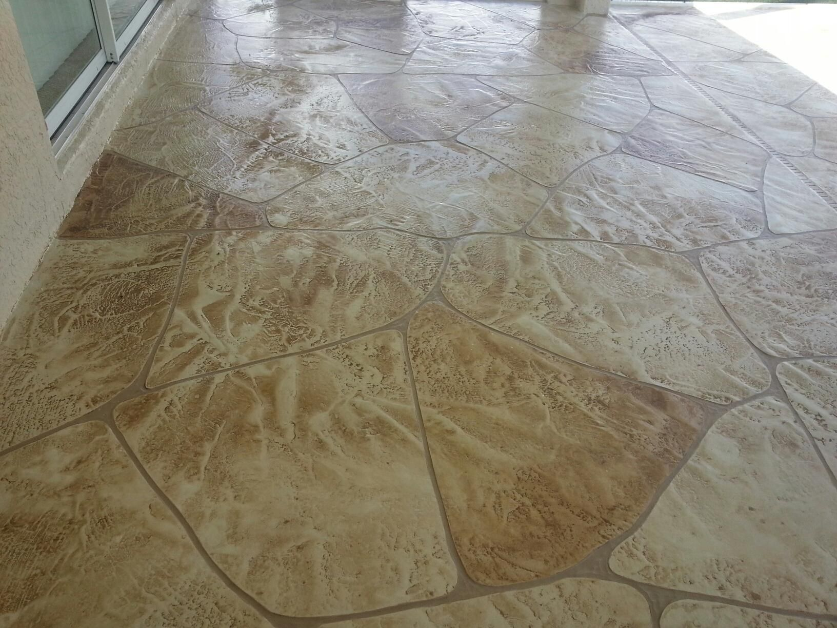 Decorative concrete Patio in Fort Myers Florida.