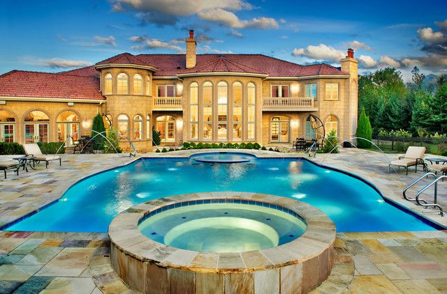 Mansion With Swimming Pool spectacular mansions with pools for spacious and luxury house