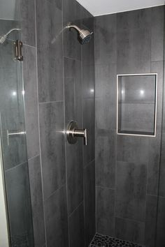 dark gray shower tile Google Search Shower wall tile