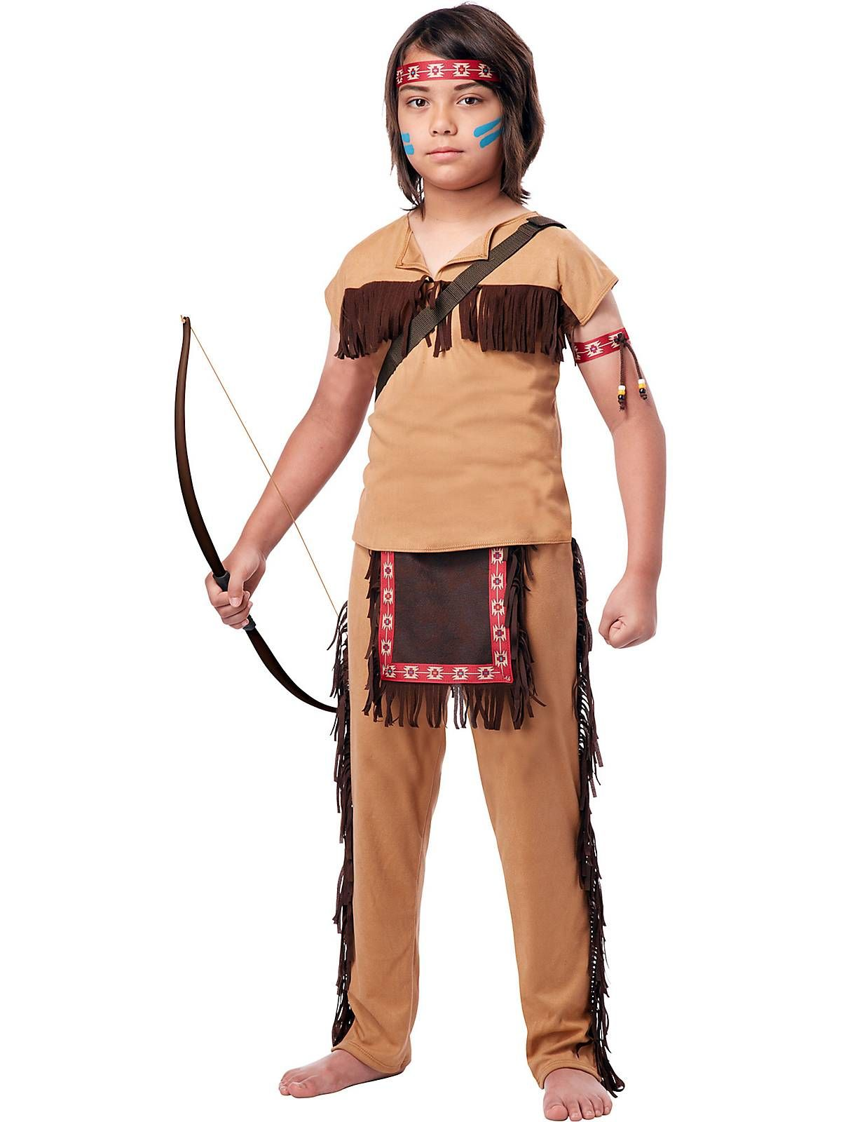 Boyu0027s Native American Brave Costume! See more #costume ideas for Halloween and more at  sc 1 st  Pinterest & Boyu0027s Native American Brave Costume! See more #costume ideas for ...
