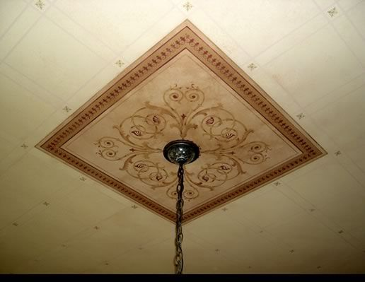 For The Home Painted Ceiling Ceiling Medallions Stencil Designs