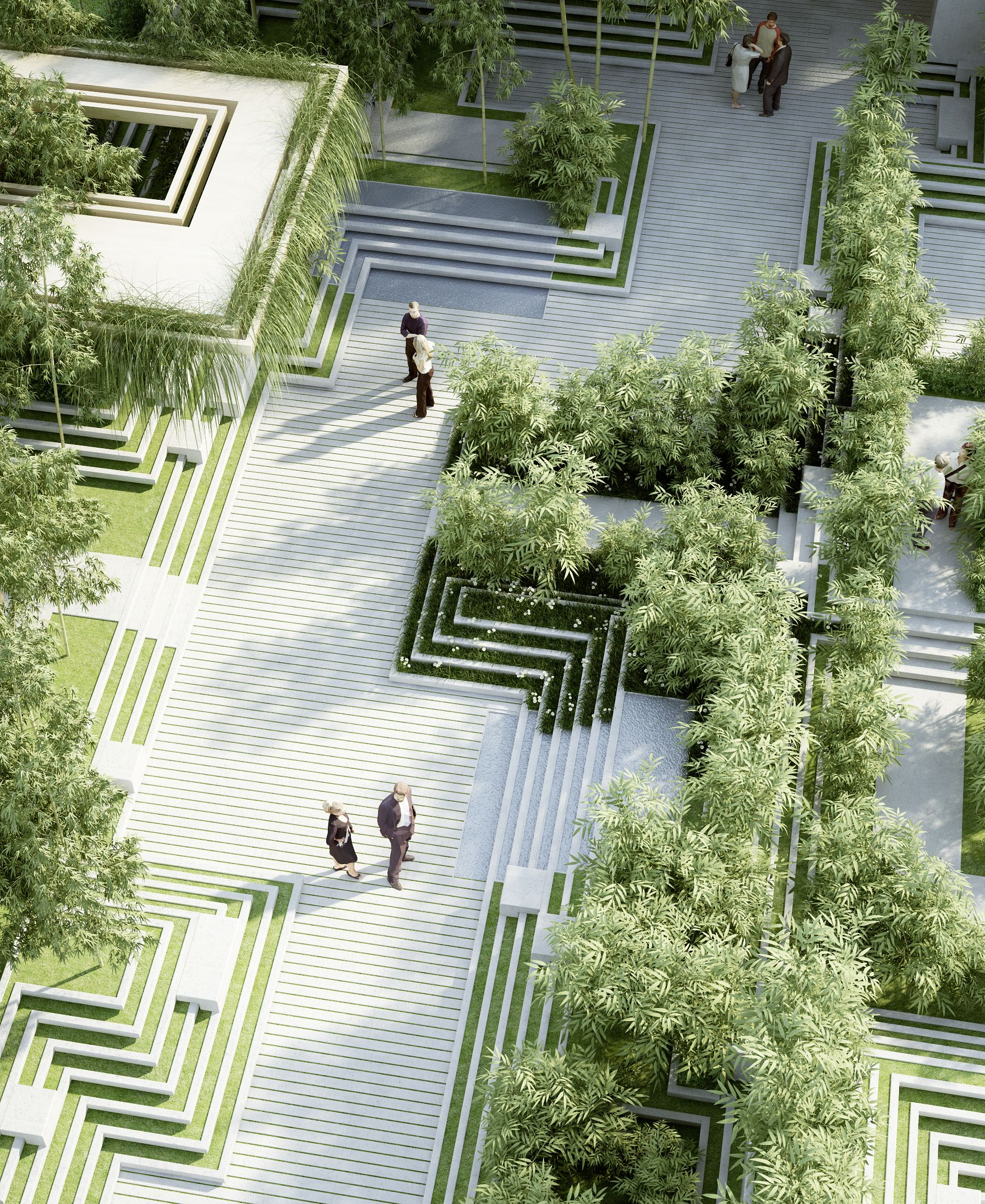 The project describes a landscape design and facade design for Indian garden design