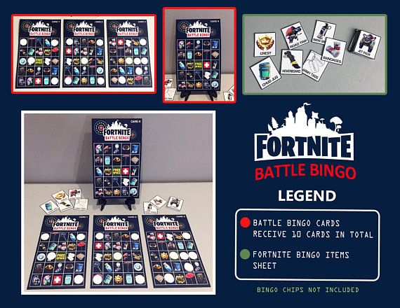 Fortnite Battle Bingo Game - Digital File Downloads Great for birthday  parties! PRINTABLE FILE ONLY 78837428016e