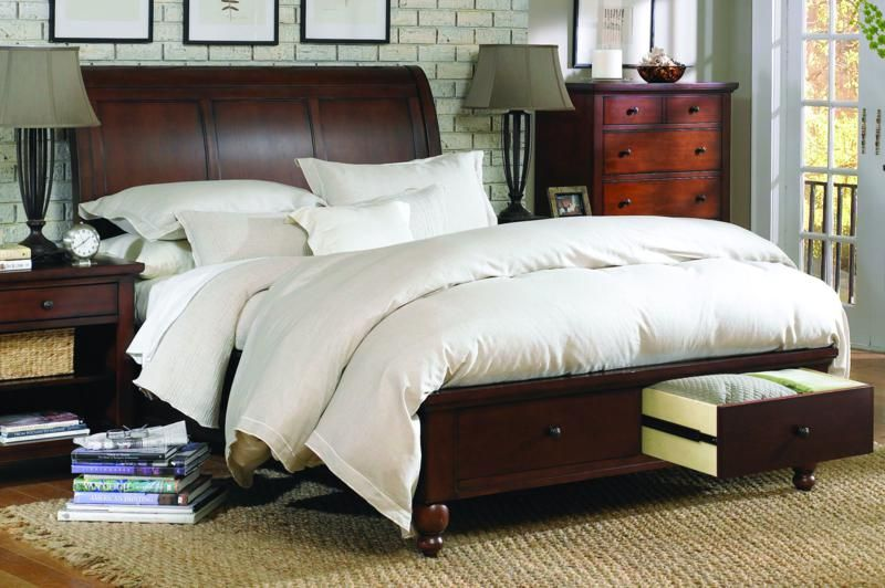 Aspen Home Cambridge Sleigh Bed With Low Footboard Mancini S